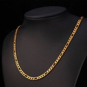 "Other - 26"" new 18K figaro gold necklace"